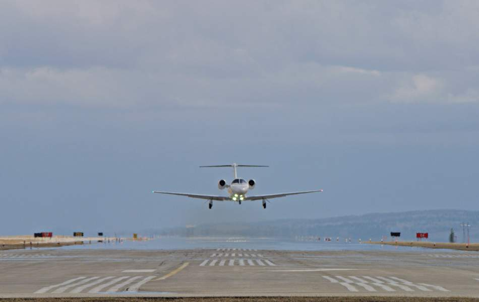 AirSprint Cessna Citation CJ3+ coming in for a landing